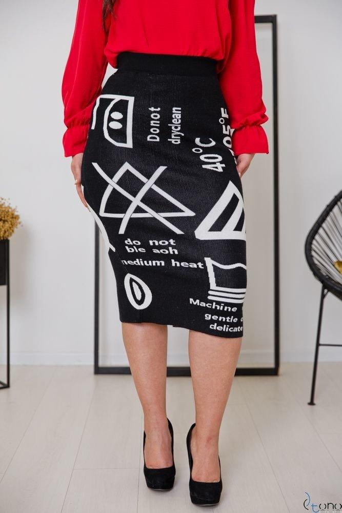 Czarna Spódnica FACTOR Plus Size