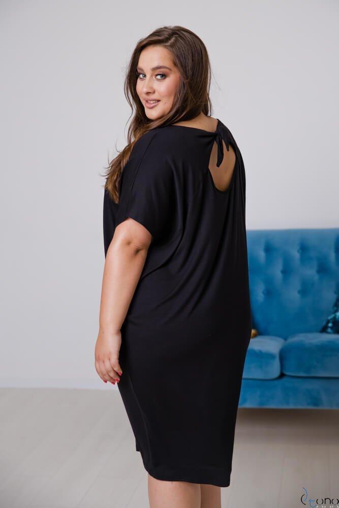 Czarna Sukienka  ARCERIA Plus Size