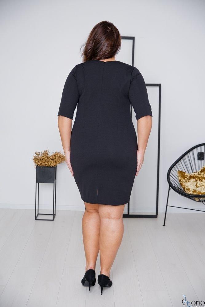 Czarna Sukienka AZURRA Plus Size