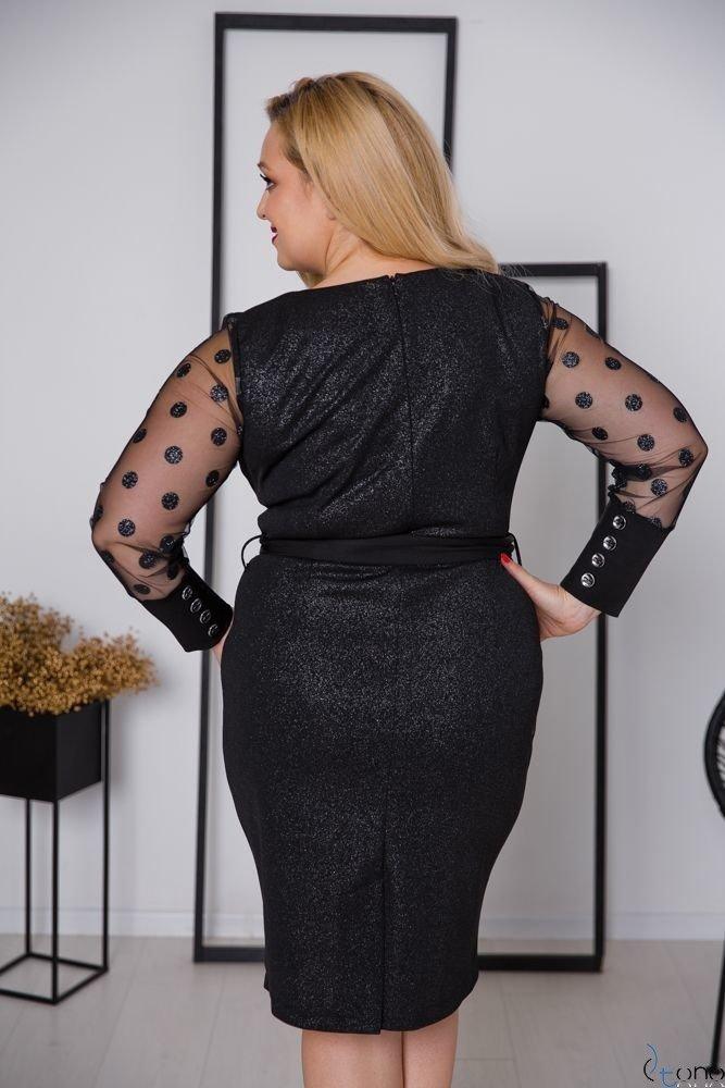 Czarna Sukienka BERTA Plus Size