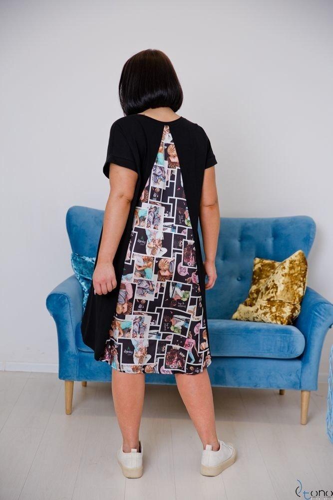 Czarna Sukienka COMPOSA Plus Size