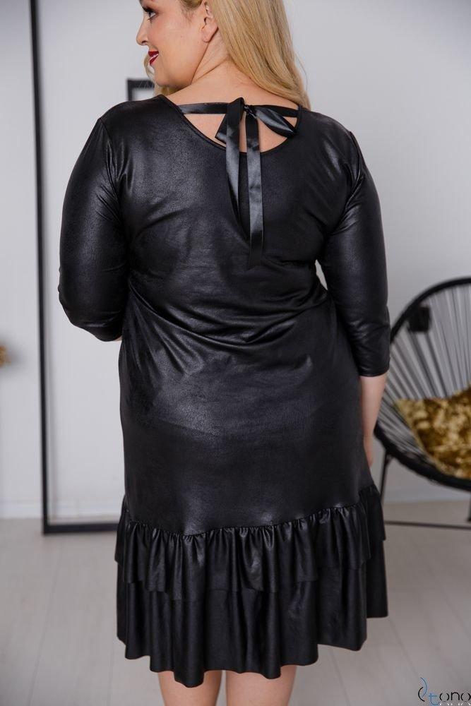 Czarna Sukienka FORTUNA Plus Size