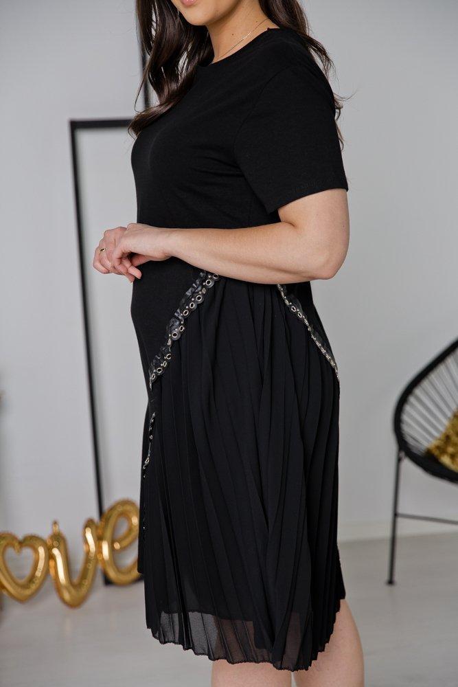 Czarna Sukienka GIRLANA Plus Size