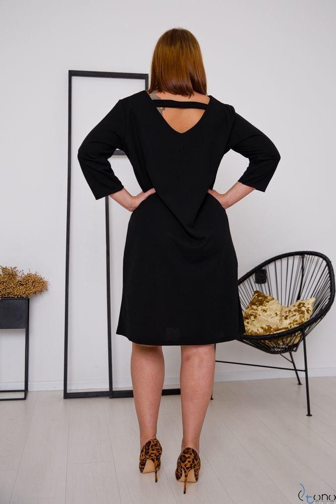 Czarna Sukienka HIERRA Plus Size