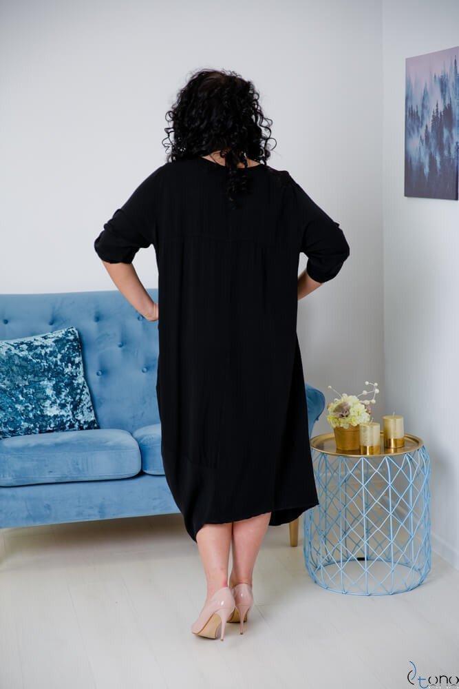 Czarna Sukienka SAJANA Plus Size