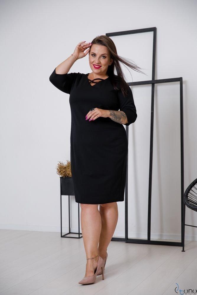 Czarna Sukienka TELMA Plus Size