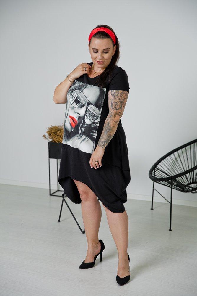Czarna Tunika GLENA Plus Size