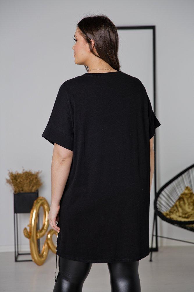Czarna Tunika KITTY Plus Size