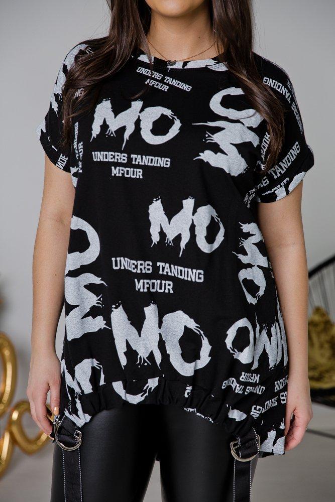 Czarna Tunika MOMO Plus Size