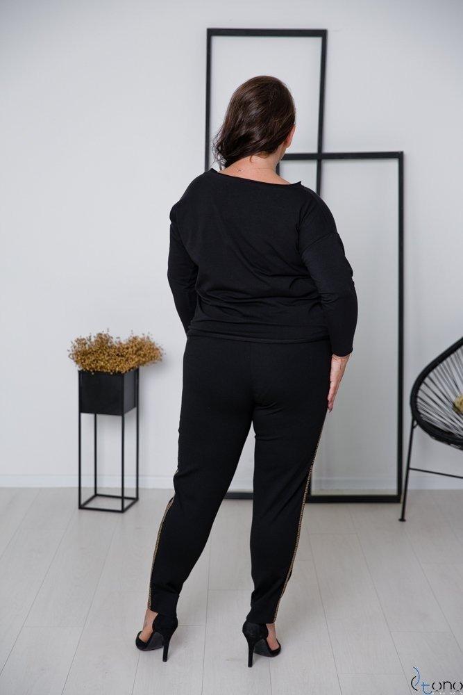 Czarne Spodnie DIFENT Plus Size