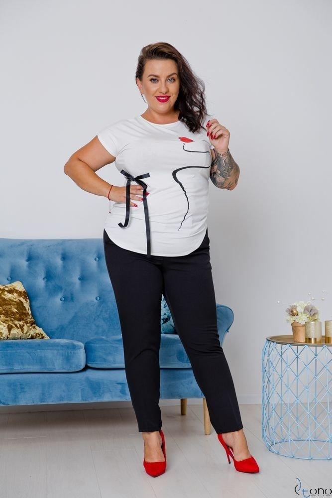 Czarne Spodnie GINGESS Plus Size