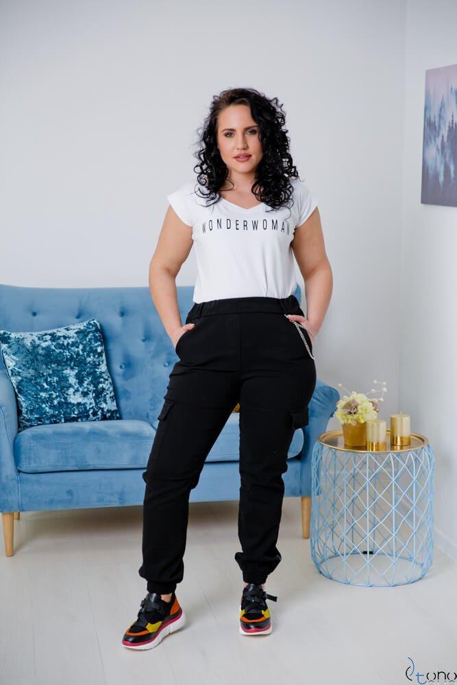 Czarne Spodnie JOGGER Plus Size