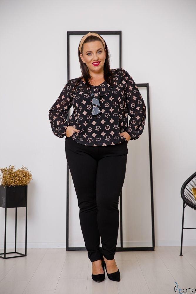 Czarne Spodnie MIRELLA Plus Size