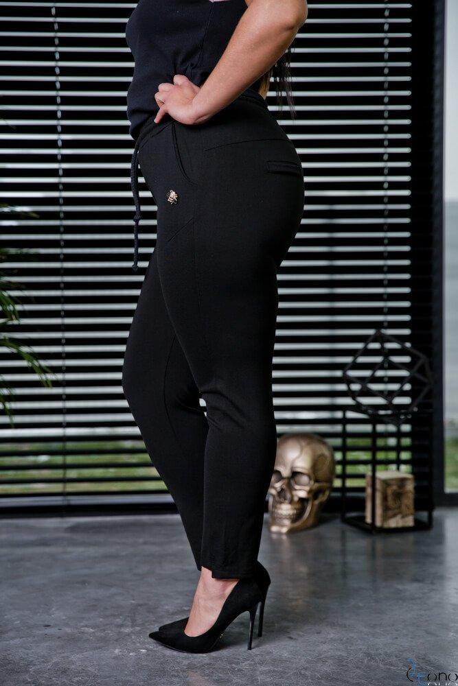 Czarne Spodnie VENDY Plus Size