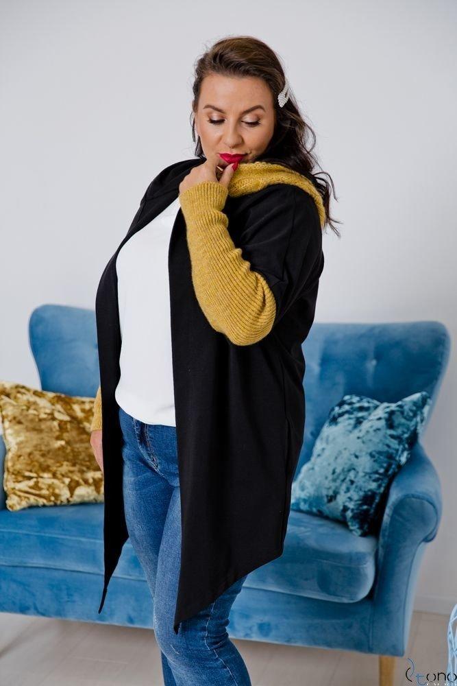 Czarno-Żółty Kardigan COMESIA Plus Size