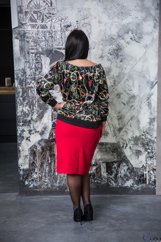 Czarno-złota Bluza CORTINA Plus Size