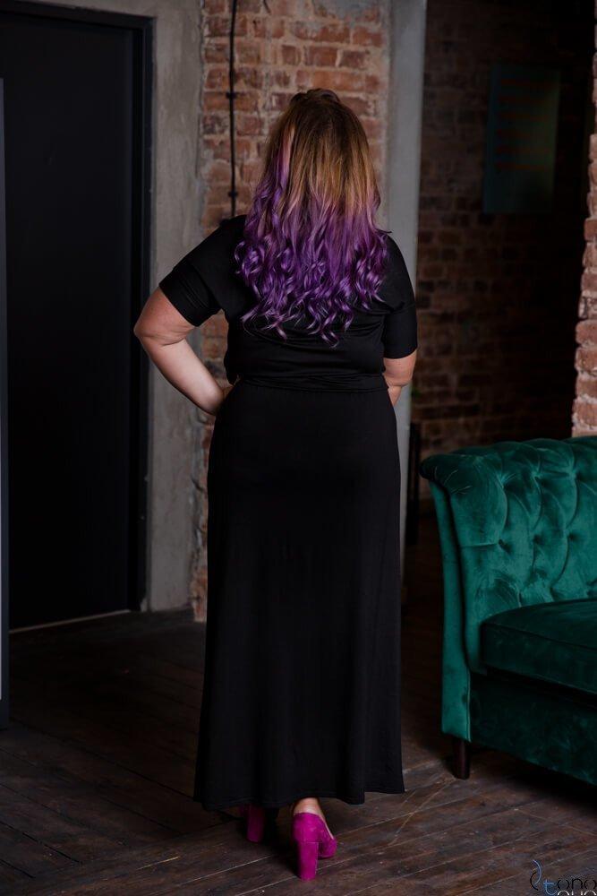 Czarny Sukienka MAKINA Plus Size Maxi