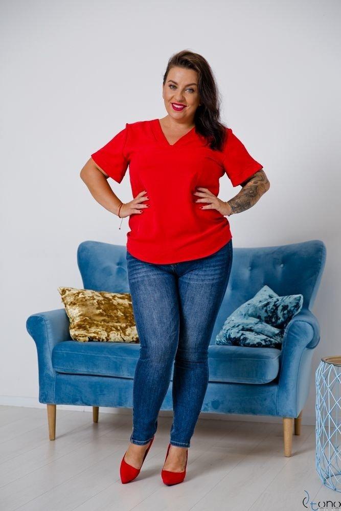 Czerwona Bluzka MIKELA Plus Size
