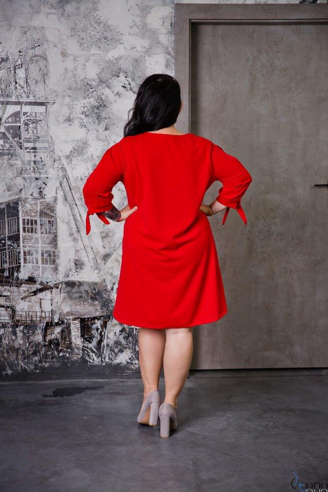 Czerwona Sukienka MERCY Plus Size