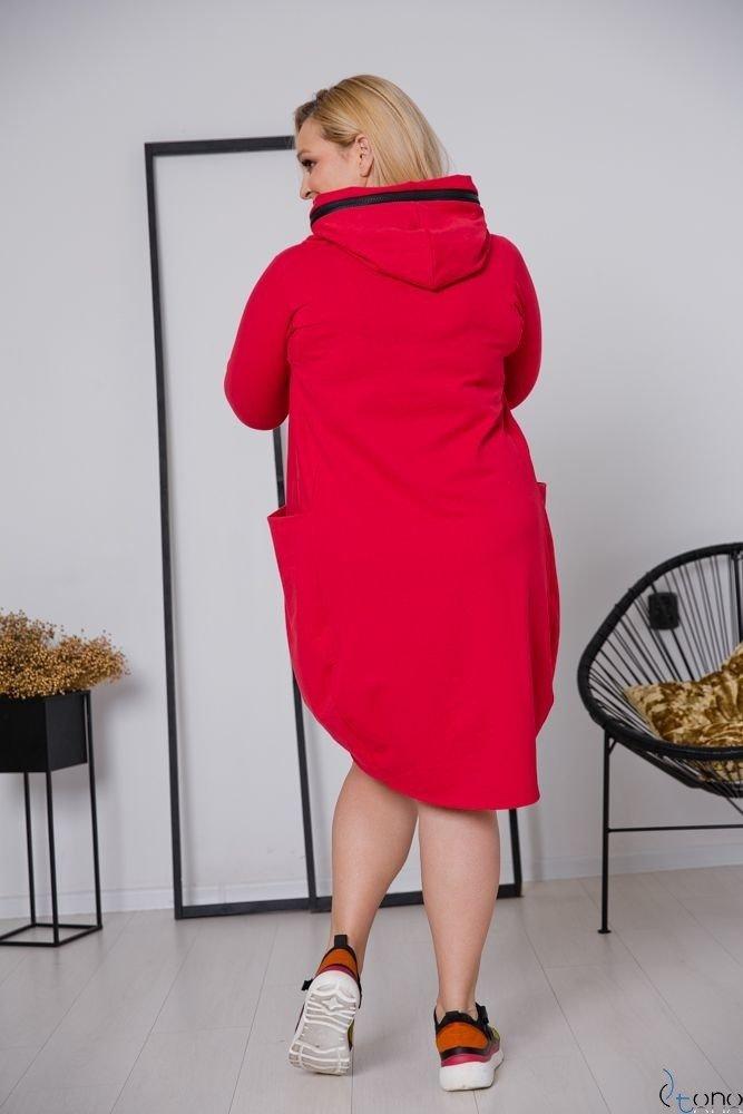 Czerwona Sukienka STRALIS Plus Size