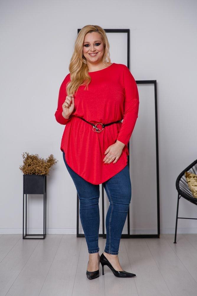 Czerwona Tunika CAMOSA Plus Size