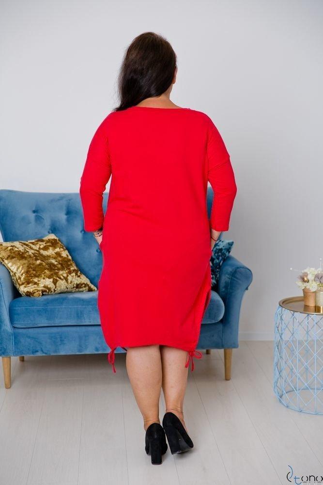 Czerwona Tunika CLIMMA Plus Size Wzór 1