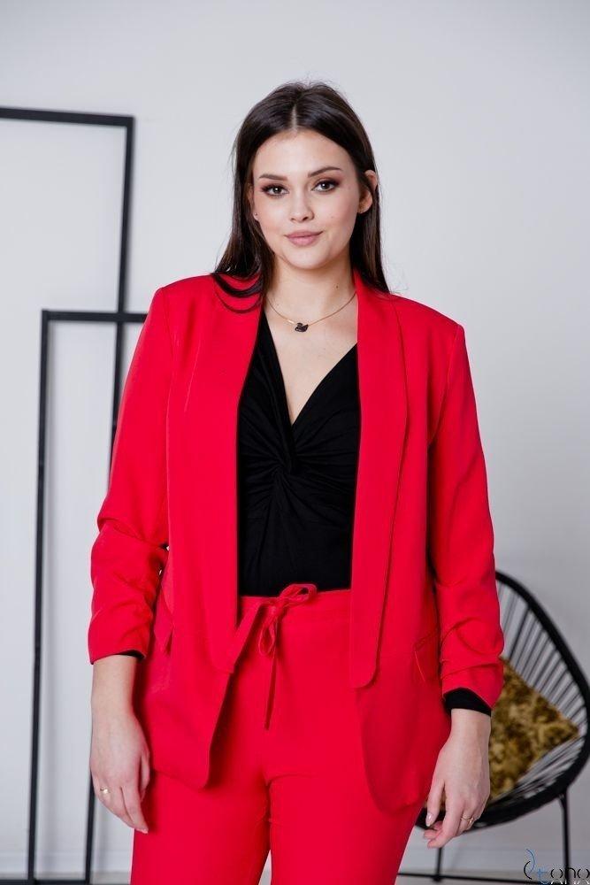 Czerwony Garnitur MARLO Plus Size