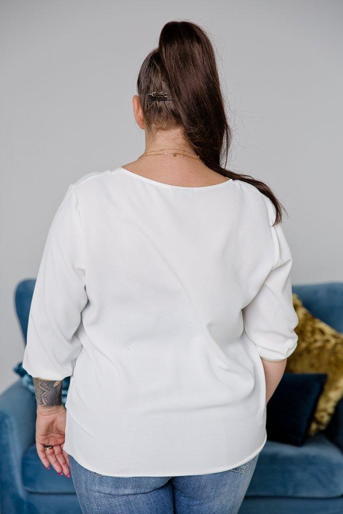 Ecru Bluzka VIRETTA Plus Size