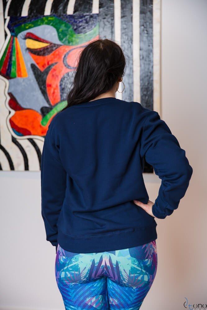 Granatowa Bluza BUGGIE Plus Size