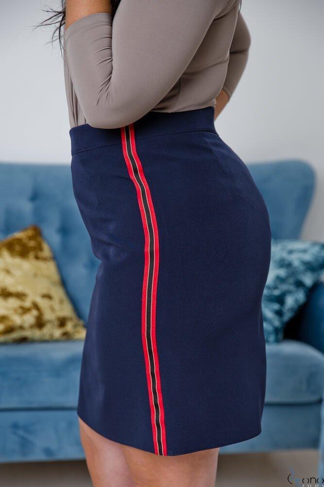 Granatowa Spódnica MAGINA Plus Size