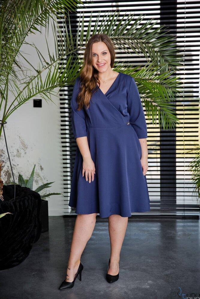 Granatowa Sukienka MELANYA Plus Size
