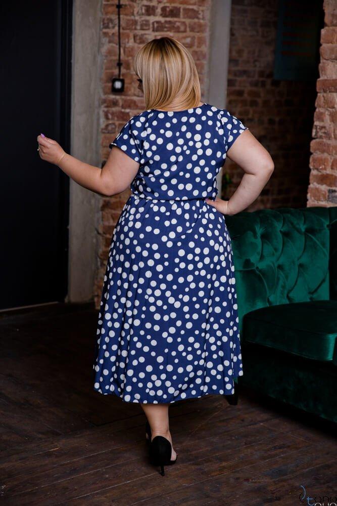 Granatowa Sukienka SANTE Plus Size