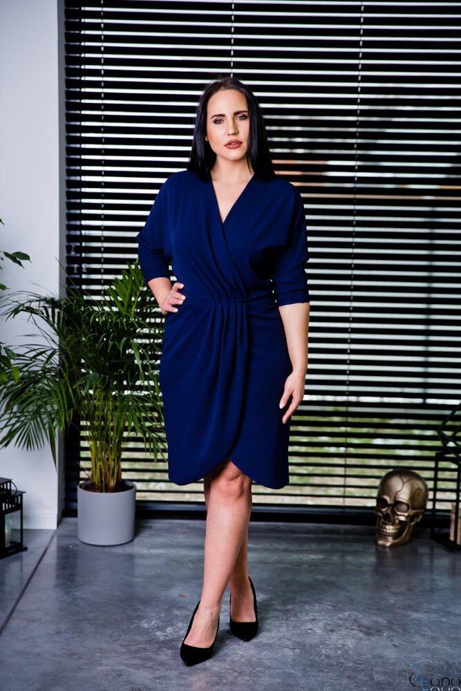 Granatowa Sukienka SOFIJA Plus Size