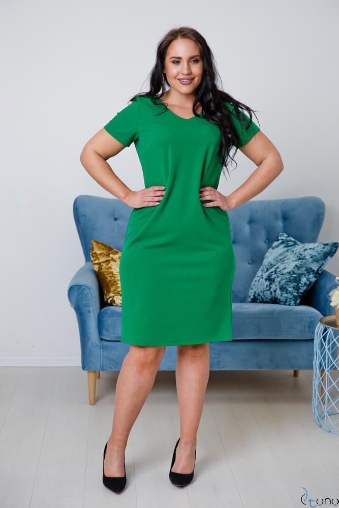 Jasnozielona Sukienka MELIA Plus Size