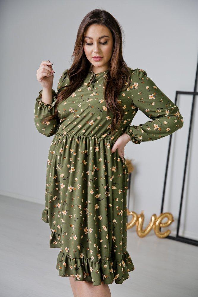 Khaki Sukienka STACY Plus Size