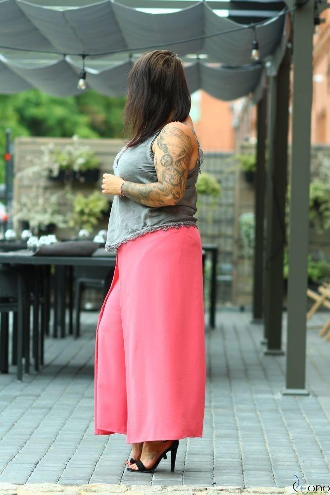 Koralowe Spodnie MISSY Plus Size