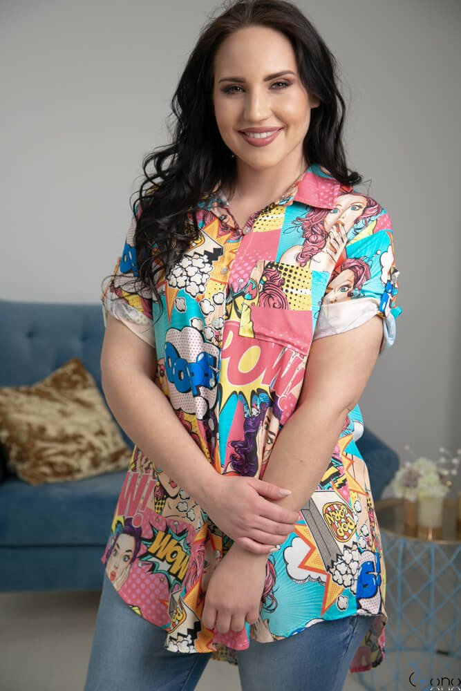 Koszula ALESSIA Plus Size Wzór 2