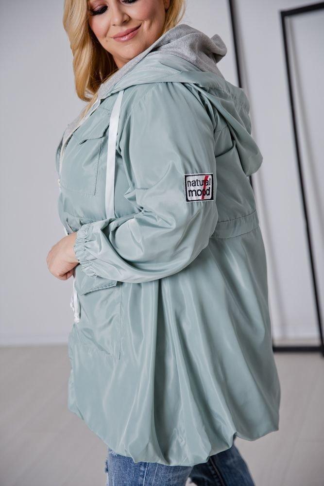 Miętowa Kurtka NATURAL Plus Size