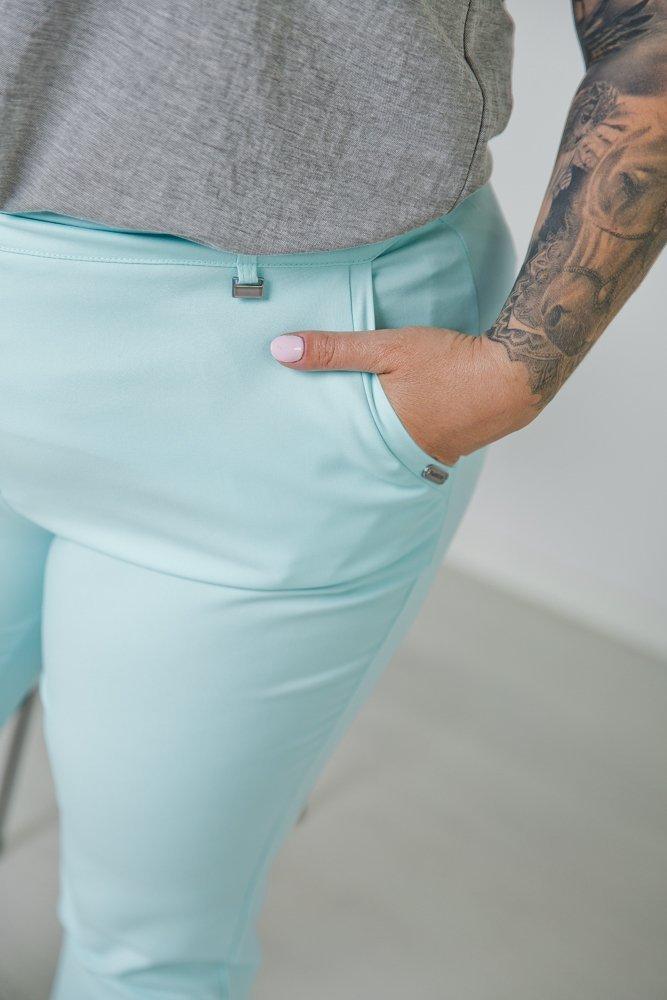 Miętowe Spodnie MORTY Plus Size