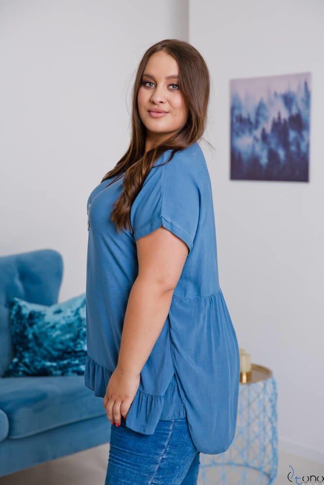 Niebieska Bluzka OLTERIA Plus Size