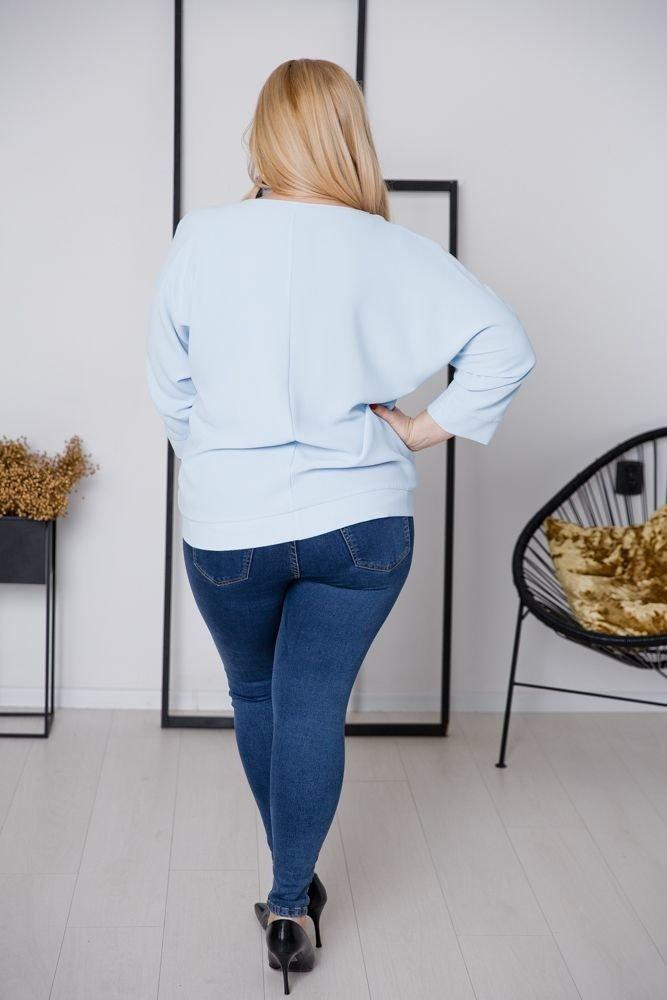 Niebieska Bluzka PANEA Plus Size