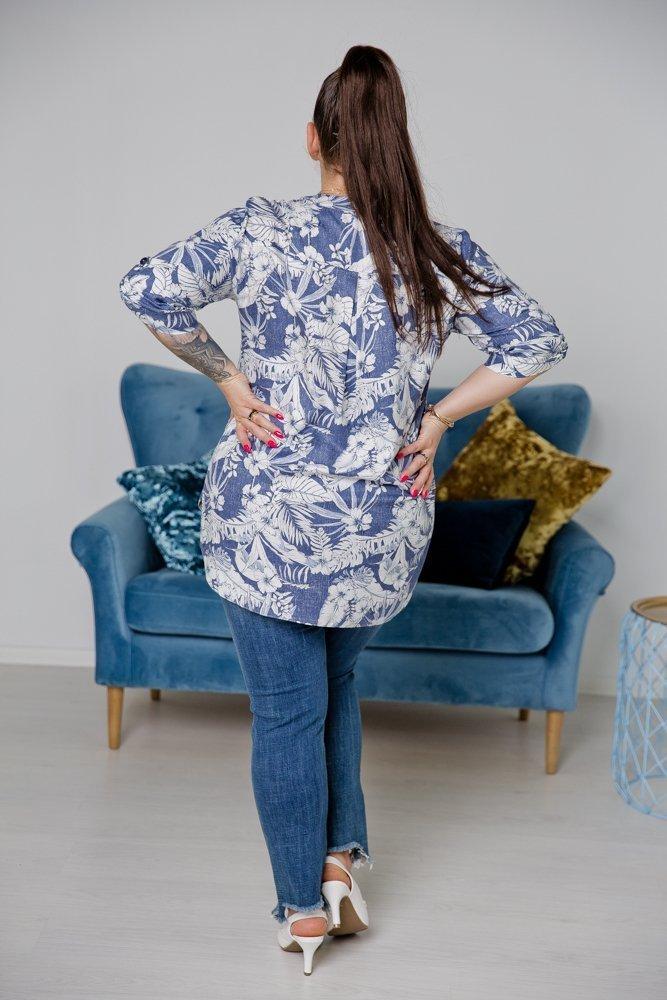 Niebieska Koszula TRENA Plus Size
