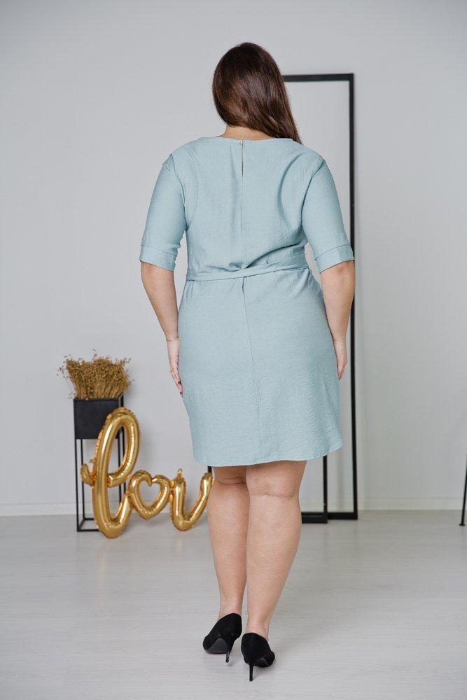 Niebieska Sukienka LUMOSA Plus Size