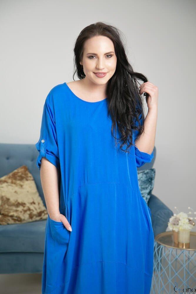 Niebieska Sukienka SIMILLA Plus Size