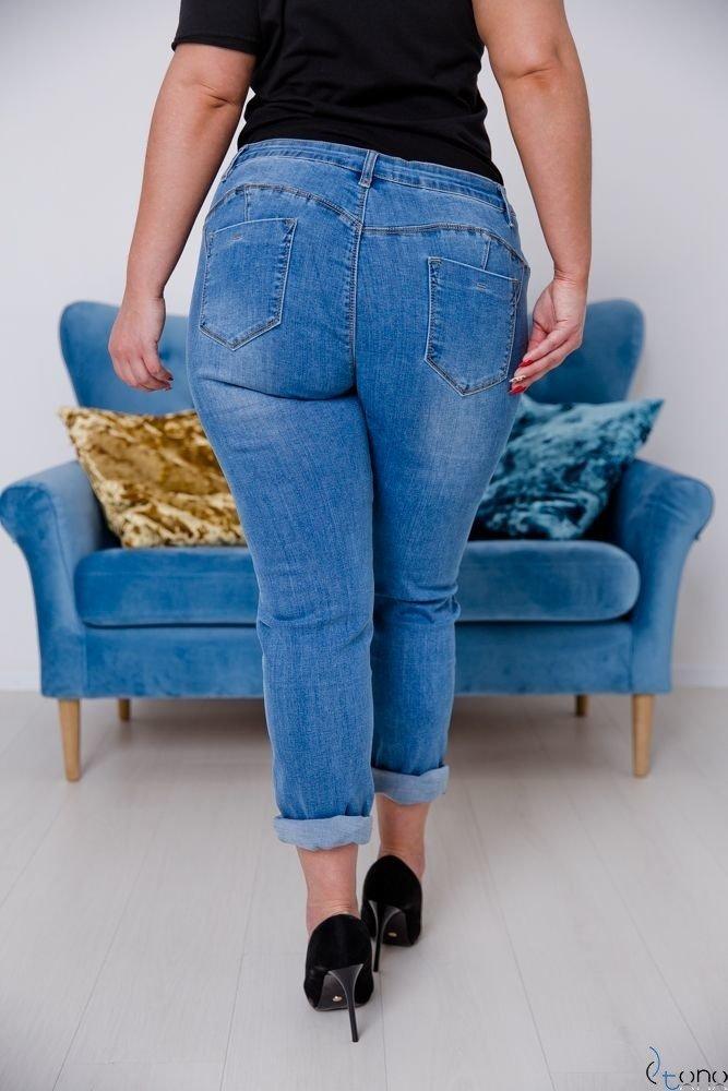 Niebieskie Spodnie VENTY Jeansy plus Size