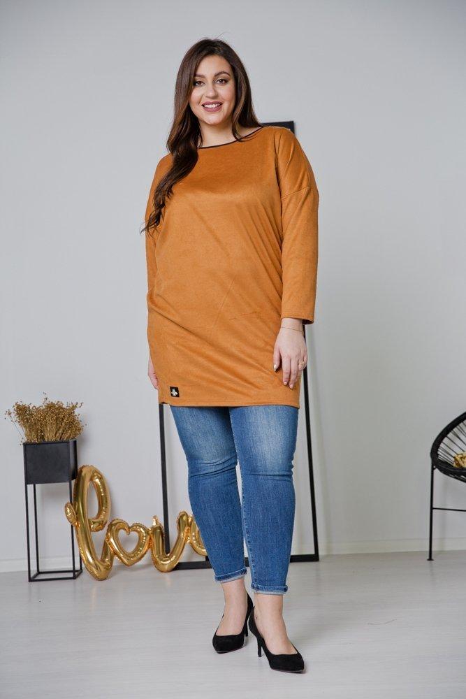 Pomarańczowa Tunika TAMENA Plus Size