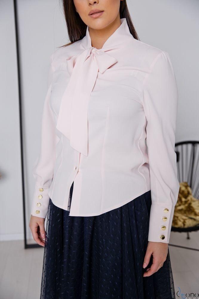 Różowa Bluzka FETTI Plus Size