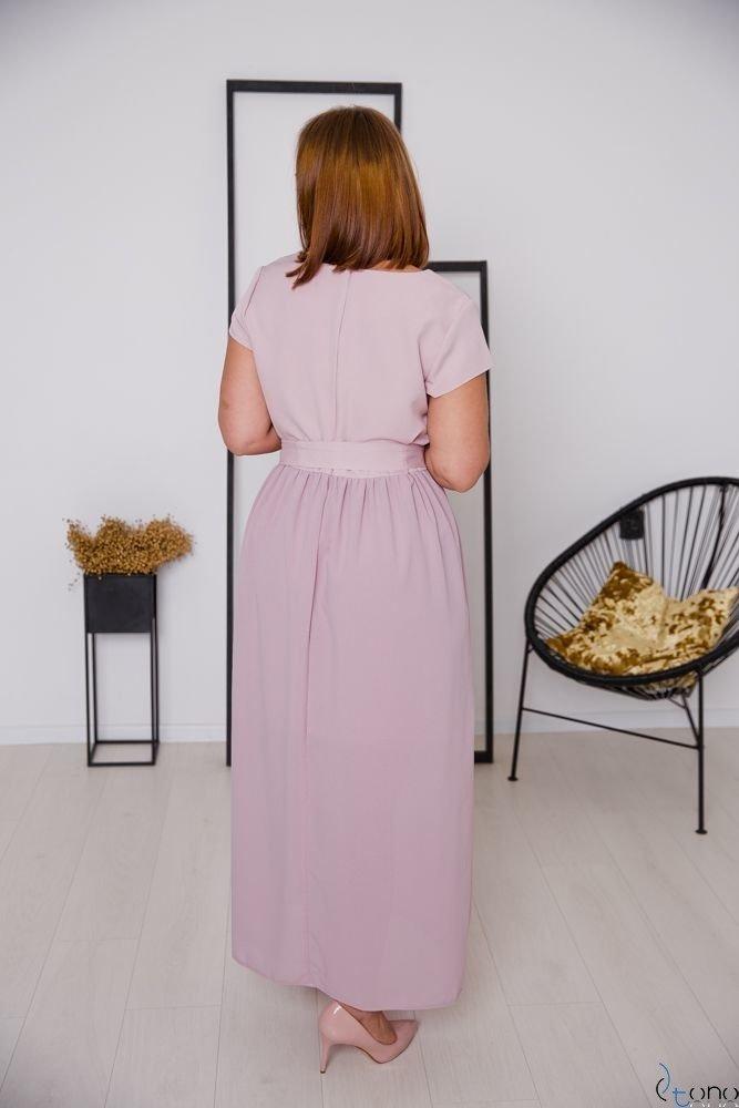 Różowa Sukienka MALIKKA Plus Size