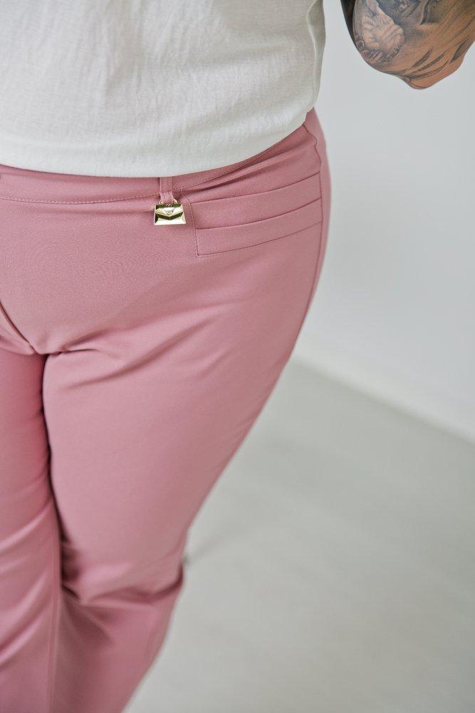 Różowe Spodnie VIZON Plus Size