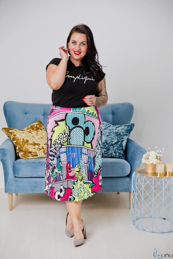 Spódnica ELMO Plus Size Wzór 2